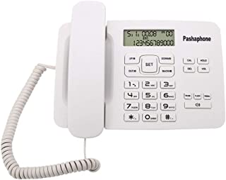 Yoidesu Corded Desk Telephone with Caller ID Extra Loud Ringer Tilt Display Landline Telephone FSK/DTMF Dual System Multi ...