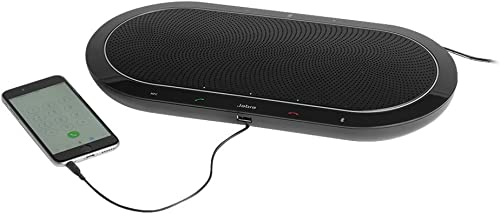 Jabra Speak 410 Corded Speakerphone for Softphones – Easy Setup, Portable USB Speaker for Holding Meetings Anywhere w...