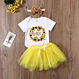 Zoom IMG-2 toddler baby girl sunflower outfit