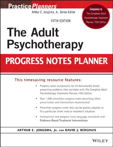The Adult Psychotherapy Progress Notes Planner: Fifth Edition