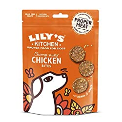 Dog treats ideal for training, in between meals or just because Made with proper meat - no meat meal or fillers Made with natural ingredients including 80 Percent freshly prepared chicken Grain free recipe and single protein suitable for dogs with se...
