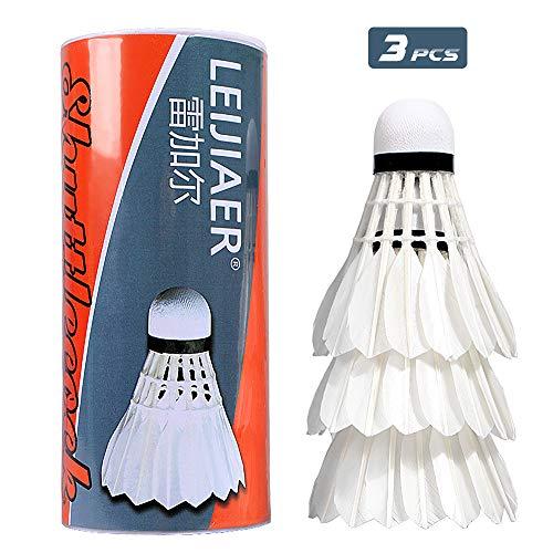 3 pz volani da Badminton durevoli Indoor Sport all'Aria Aperta Palle da Badminton Palline da Allenamento di Piume D'Anatra di qualità volano Antivento