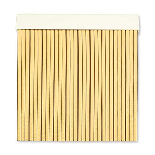 Cortinas Exterior Puerta | Material Plastico PVC y Barra Aluminio | Ideal para Terraza y Porche | Antimoscas | Beige-Marron | 210 * 90