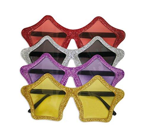 KarnevalsTeufel Stern-Brille in verschiedenen Farben (Silber)