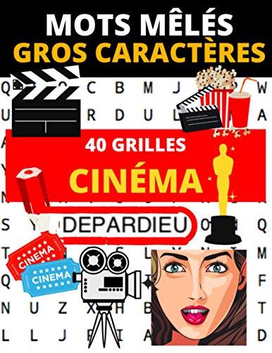 Mots mêlés gros caractères Cinéma: 40 grilles pour adultes sur le thème du cinéma | Retrouver films, acteurs, producteurs, etc. Cadeau idéal pour un fan de cinéma | 21,59 cm x 27,94 cm