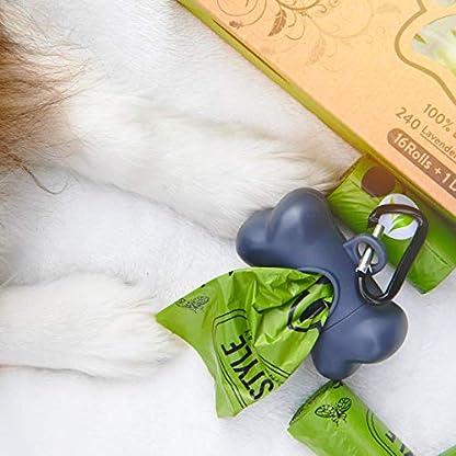 Greener Lifestyle 240 Lavender Scented Dog Poop Bags + 1 Dispenser 5