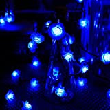 TEPET Creativity Solar String Lights, Rose Flower Butterfly Shape Cortina Cadena de Luces Luces centelleantes Impermeables al Aire Libre para Navidad