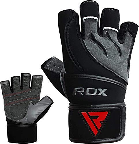 RDX-Gel Gewichtheben Bodybuilding Handschuhe Fitness Band Schulung Leder Schulung Gr. L - 6