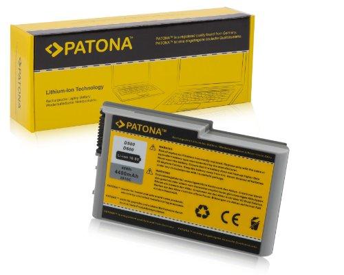 PATONA Batterie adapté pour Laptop/Notebook Dell Inspiron 500M, 505M, 510M, 600M - Latitude D500, D505, D510, D600, D610 - Precision M20 -, 312-0191 Li-ION, 4400mAh, Noir