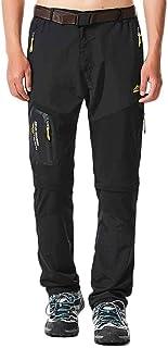 comprar comparacion Quge Hombre Tactical Pants Desmontable Secado Rápido Pantalones De Escalada De Múltiples Bolsillos