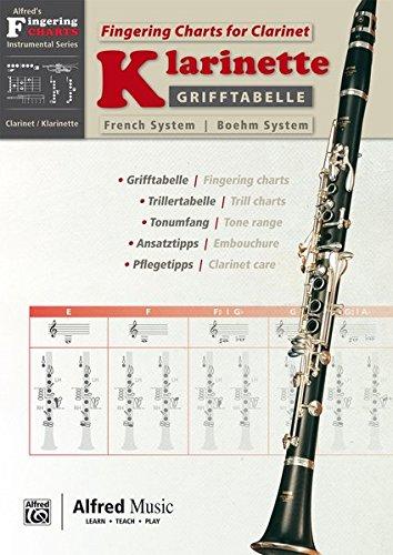 Alfred\'s Fingering Charts Instrumental Series: Grifftabelle Klarinette Boehm-System | Fingering Charts Bb Clarinet French System | Klarinette | Buch: German / English Language Edition, Chart