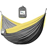 Vivere  Double Parachute Hammock, Grey/Yellow