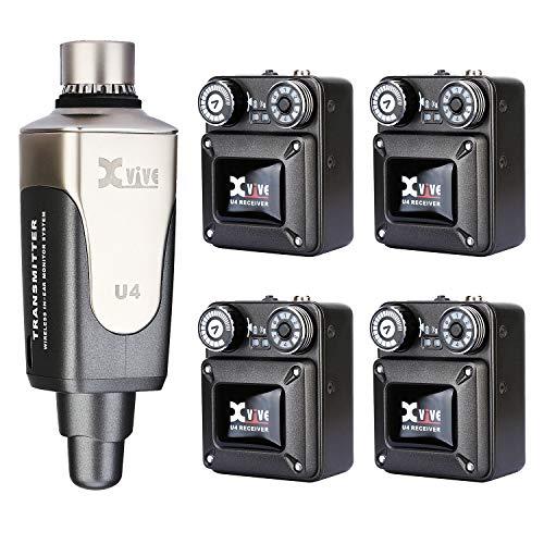 Xvive U4R4 - Sistema de monitorización inalambrico (1 emisor y 4 receptores de cinta)