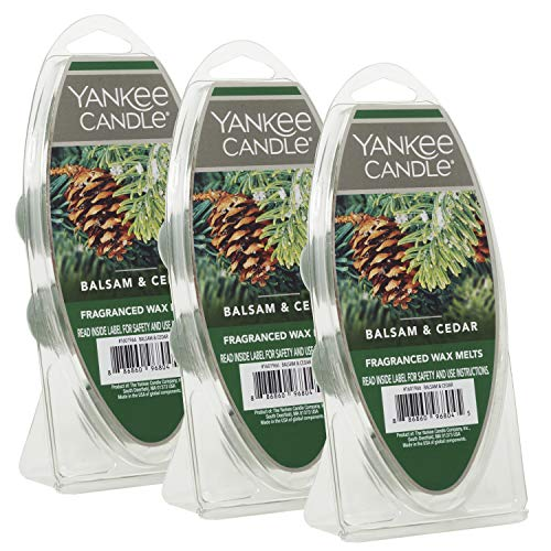 Yankee Candle Balsam & Cedar Wax Melts, 3 Packs of 6 (18 Total)