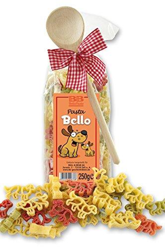 Pasta Präsent Bello mit bunten Hunde-Nudeln handgefertigt in deutscher Manufaktur