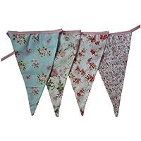 West5Products Guirnaldas de tela con diseño floral inglés para fiesta Paquete de 1 (3 metros) Multi