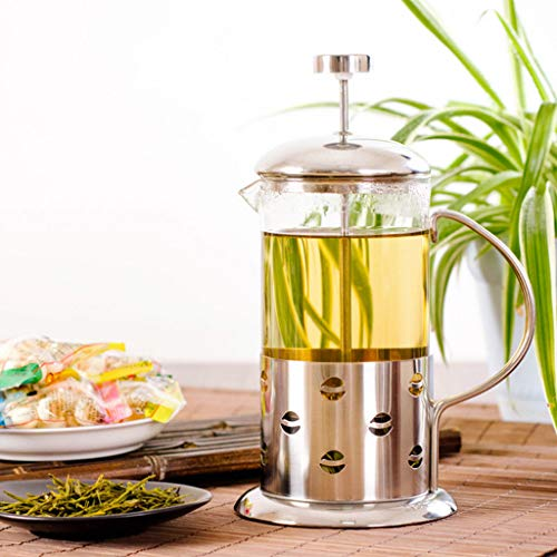 350 ml / 3-Cup Stainless Steel Glass Cafetière French Filter Coffee Press...