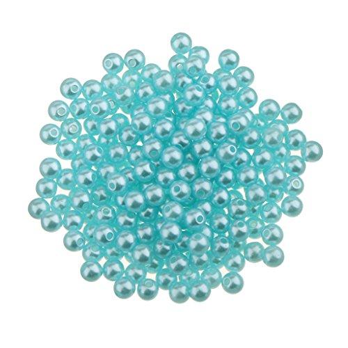 freneci 400 Piezas de Perlas de Plástico Magníficas para La Boda de La Novia Fabricación de Joyas de 4 Mm - 4 mm Azul (400 pcs)