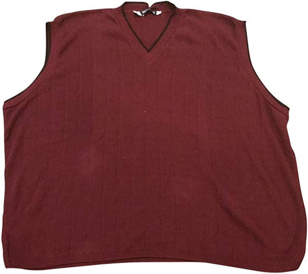 Megalos USA Made Dark Red Big and Tall Sweater Vest 5X