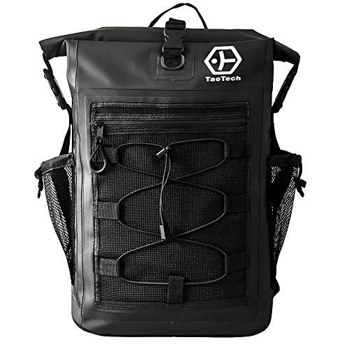 【TaoTech】 防水バッグ ドライバッグ 防水 リュック ロールトップ 大容量 バッグ アウトドア 旅行 迷彩 男女兼用 25L 30L (30L, ブラック)