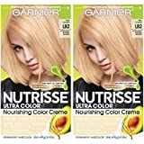 Garnier Nutrisse Ultra Color Nourishing Permanent Hair Color Cream, LB2 Ultra Light Natural Blonde (2 Count) Blonde Hair Dye