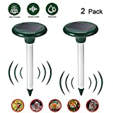 Solar Ultrasonic Repeller, Solar Animal Defense Ultrasonic Animal Repellent Outdoor Pest and Animal Control,...