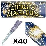 40 velas mágicas para tarta de cumpleaños de grado 1. Duración de la iluminación: 45 segundos.
