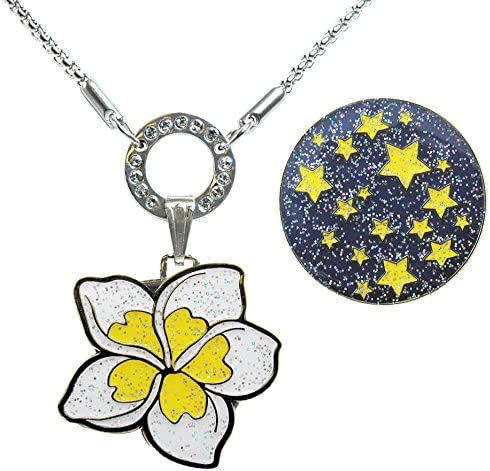 Navika Allure Magnetic Necklace with Starry Plumeria White Nig Mesa Mall OFFer