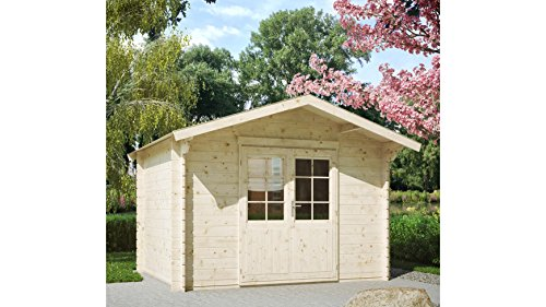 LUOMAN Gartenhaus Kanada 1/28, BxT: 300x230 cm, 28 mm, inkl. Aufbau Natur