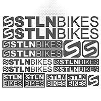 盗まれたバイク自転車フレームMTB BMXステッカーステッカーセットビニールグラフィックデカールデカールボディ車のための装飾デカールステッカーキットスタイリング (GRAY)