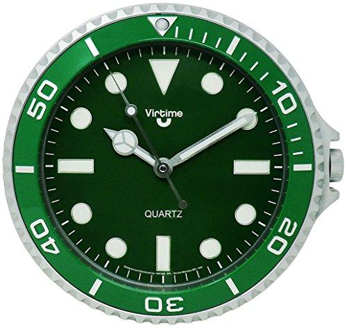 Simpatico Orologio da Parete per Ufficio/Casa/Locali Design Orologio da Polso Rolex 28cm Ø di Diametro Colore Verde 197900