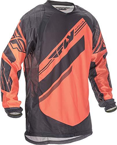 Fly Racing Unisex-Adult Patrol Xc Jersey (Fluorescent Orange/Black, Large)