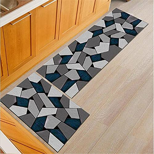 WESG Alfombrillas Antideslizantes Lavables para la Cocina, alfombras absorbentes para el baño, Alfombrillas de Entrada para el Dormitorio Interior y la Sala de Estar NO.7 40X60cm