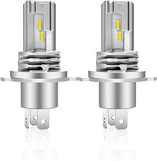 Bombilla H4 LED Coche 6500K Faros Lámparas Para Coches Blanco 1: 1 Diseño,Reemplazo De Luz Halógena y Faros De Xenón(2pcs)