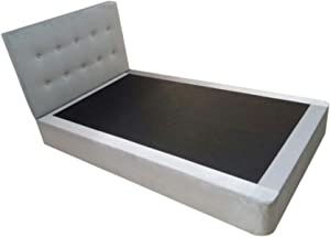 Black Stallion EVA Upholstered Divan Bed - 180 x 200cms Grey