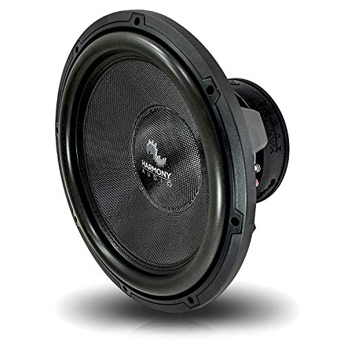 Harmony Audio HA-C154 Car Stereo Competition Carbon 15' Sub 2800W Dual 4 Ohm Subwoofer New