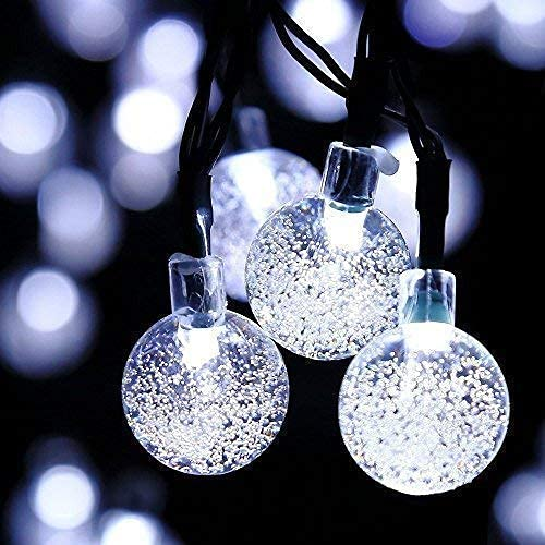 KDMB Outdoor Ball String Lights, 11M 60LED Bubble Crystal Ball Lights Globe String Fairy Lights Solar String Bulb Indoor Lights For garden outdoor party