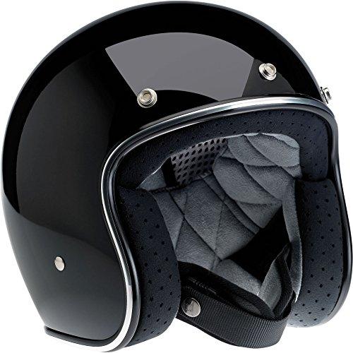 Biltwell Bonanza Half Helmet (Gloss Black, Large)
