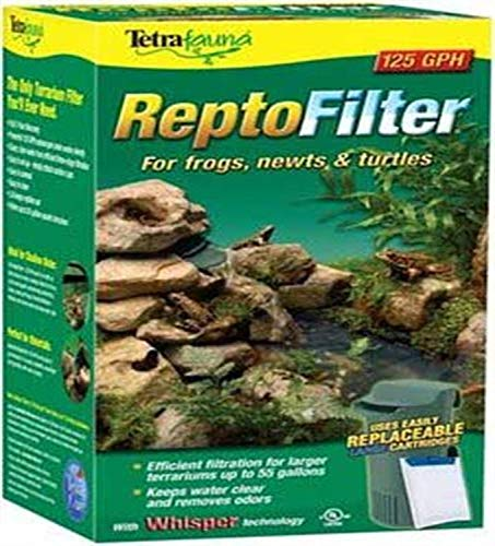 TetraFauna ReptoFilter 50 Gallons, Terrarium Filtration, Keeps Water Clear, 125 GPH, Model:26038