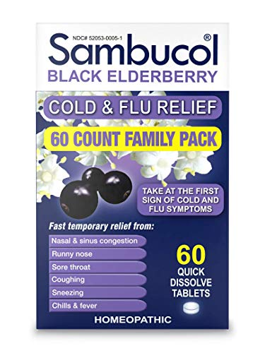 Sambucol Cold & flu relief tablets, 60 Count