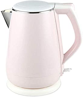 1.5L Electric Kettle, Double Wall Cool Touch Tea Kettle, 1800w Fast Boil Water Filter Kettle With Stainless Steel Interior, Auto Shut Off & Overheating Protection, pink