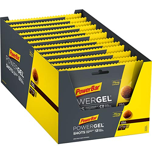 PowerBar PowerGel Shots Cola 24x60g - High Carb Energie Gummis - C2MAX + 75mg Koffein, 1440 g