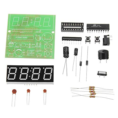SenQing 3pcs Clock MCU Clock Kit DIY Multifunktions-Vier-Bit-Digital DIY-Kit