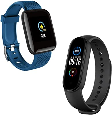 Enraciner Smart Band 5 Fitness Band,Smart Battery Life, Color AMOLED Full-Touch Screen, Waterproof and D13 Smart Watch Intelligent Bracelet, Smart Watch