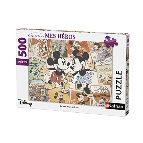 Nathan Puzzle 500piezas recuerdos de Mickey, 87217 , color/modelo surtido