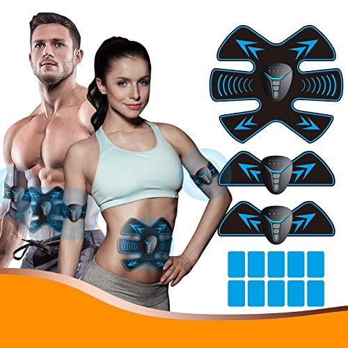 ALDOM EMS Trainingsgerät EMS Muskelstimulator bauchtrainer ABS Bauchtrainer Professionelle Elektrostimulation Elektrisch Bauchmuskeltrainer für Bauch Arm Bein-Fitness Trainings Gang