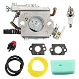 Butom C1Q-EL24 Carburetor with Air Filter Tune Up Kit for Husqvarna 123C 123L 123LD 223L 223R 322C 322L 322R 323C 323L 325C 325CX 325L 325LX 326C 326L 326LX String Trimmer Pole Saw