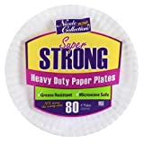 Nicole Home Collection 80 Count Heavy Duty Paper Plate, 9', White
