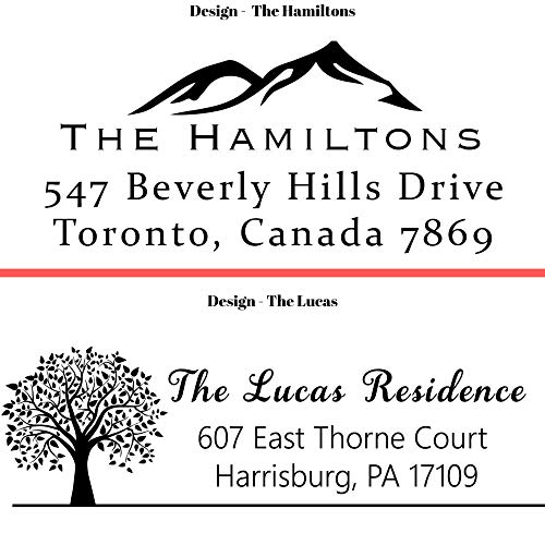 20 Designs to Choose!! Personalized - Address Stamp - Customized Stamp - Self-Inking Return Address Mail 3 Lines Custom Address Stamper - Black Red Blue Purple Green Ink - Wedding Invitation Stamp Photo #2
