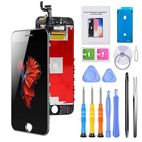 ButcHer Display-Set für iPhone 6S, Ersatz Bildschirm LCD 3D Touchscreen mit Reparaturanleitung und Komplettes Profi Ersatzbildschirm Werkzeug(4.7'',Schwarz)-APN:A1633,A1688,A1700